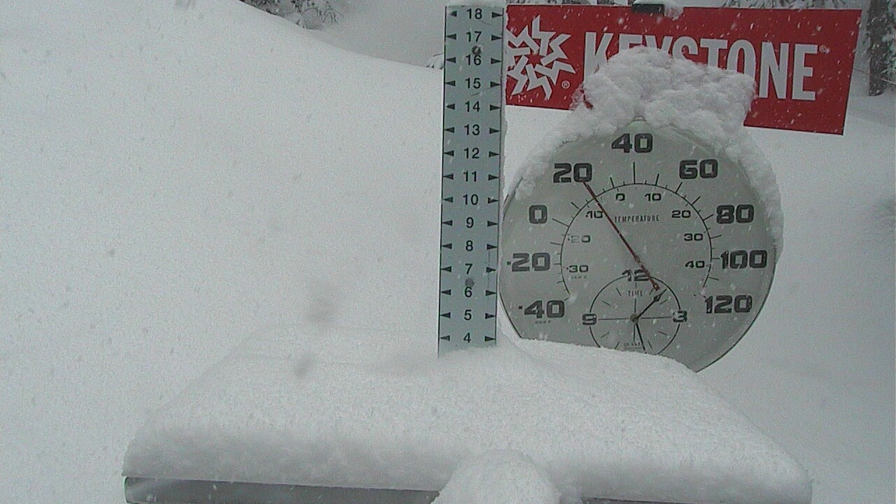 Keystone Snow Stake: 5 am image