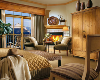 Mountain View with Fireplace Room